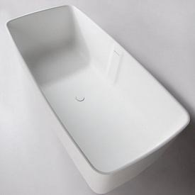 Ванна отдельностоящая каменная Solid surface 1680x800x530mm VOLLE 12-40-034