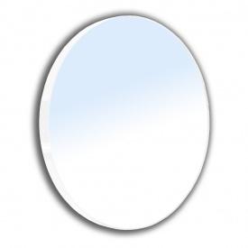 Зеркало круглое 60x60см на стальной крашенной раме белого цвета VOLLE 16-06-916