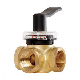 Поворотный трехходовой клапан Danfoss HRB3 PN10 DN32 внутренняя резьба 065Z0408