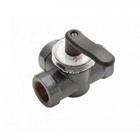 Поворотный трехходовой клапан Danfoss HRE3 PN6 DN32 внутренняя резьба 065Z0420
