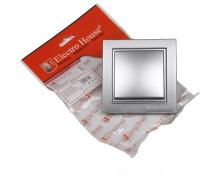 ElectroHouse Выключатель Серебряный камень Enzo IP22