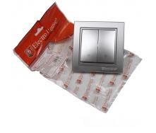 ElectroHouse Выключатель двойной проходной Серебряный камень Enzo IP22