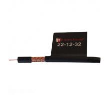 ElectroHouse Телевизионный (коаксиальный) кабель RG-6U Cu 1,02 Cu черный ПЭ