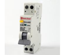 ElectroHouse ДИФ Автомат 40А 1P+N(1 модуль) 30mA 6kA 230-240V IP20