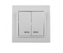 ElectroHouse Выключатель 2-й с подсветкой Enzo EH-2104