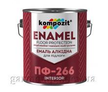 Эмаль для пола ПФ-266 Kompozit 0,9 кг Желто-коричневый глянцевая