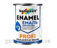 Эмаль акриловая PROFI Kompozit 0,8 л Черный Глянцевая