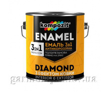 Эмаль антикоррозионная 3 в 1 DIAMOND Kompozit 0,65 л Серебристый
