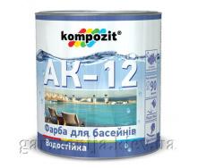 Краска для бассейнов АК-12 Kompozit 0,9 кг Голубой