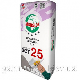 Шпаклевка Anserglob BCT 25 цементная 15 кг