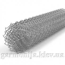 Сетка рабица 50х50х2,0 мм высота 1,5х10 м оцинкованная загнутые концы