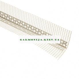 Угол перфорированный пластиковый с сеткой контрашульц 2,5 м