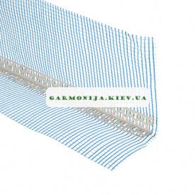Профиль угловой с зеленой сеткой 10х10 мм 3 м