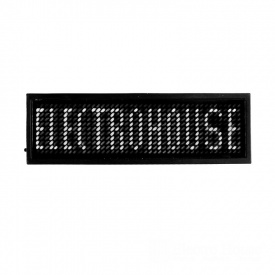 ElectroHouse Электронный Led бейдж белый