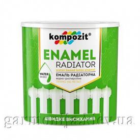 Эмаль радиаторная Kompozit 0,3л Белый матовая