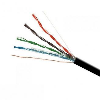 ElectroHouse Кабель UTP 4х2х0,51 Cu черный (наружный монтаж со стальной проволокой)