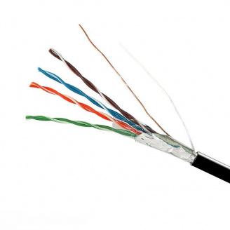 ElectroHouse Кабель FTP 4х2х0,51 Cu черный (наружный монтаж со стальной проволокой)