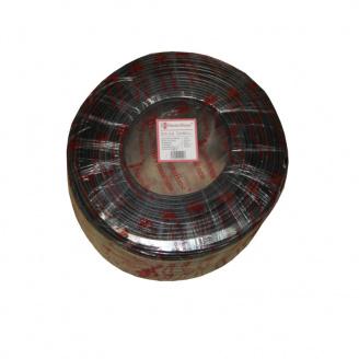 ElectroHouse Телевизионный (коаксиальный) кабель с питанием RG-6U CCS 1,02 Cu гермет фольга черный ПВХ