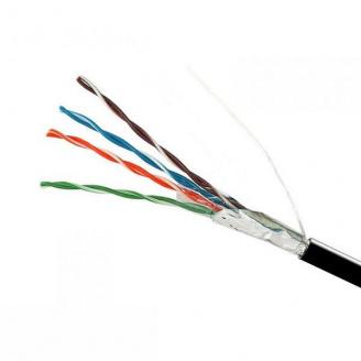 ElectroHouse Кабель FTP 4х2х0,51 CCA черный (наружный монтаж)