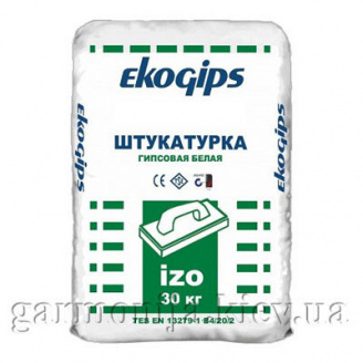 Шпаклівка EKOGIPS IZO гіпсова стартова 25 кг