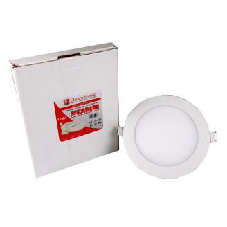 ElectroHouse LED панель кругла 12W 4100К 1080Lm 170мм