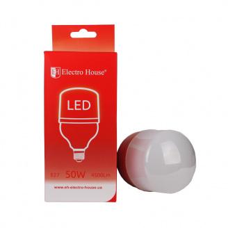 Светодиодная лампа ElectroHouse Е27 50W T120 4100K 4500Lm