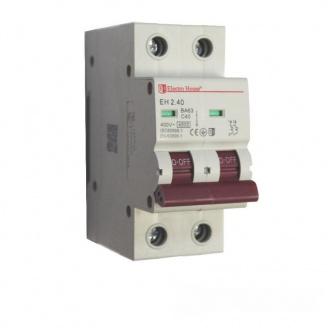 ElectroHouse Автоматический выключатель 2P 40A 4,5kA 230-400V IP20