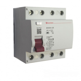 ElectroHouse УЗО 4P 25A 100mA 230-400V IP20