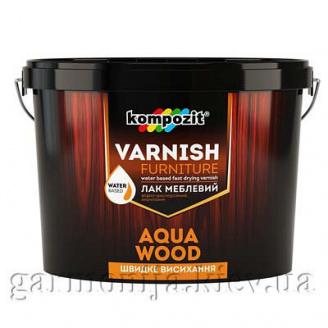 Лак мебельный AQUA WOOD Kompozit шелковисто-матовый 0,75 л