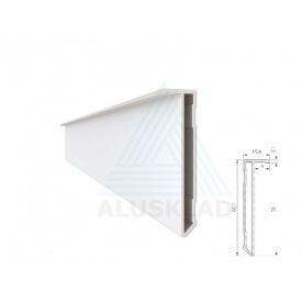 Алюмінієвий плінтус 60 мм 2,5 м прихованого монтажу без покриття