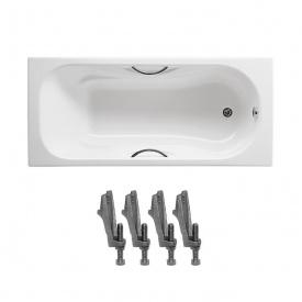 MALIBU ванна 170х75см з ручками в комплекті з ніжками Roca A23097000R+A150412330