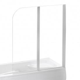 Шторка на ванну 120x138 см колір профілю білий EGER 599-121W