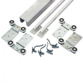 Раздвижная система для шкаф-купе Новатор для 2 х дверей весом до 30 кг и рельса 1,8 м