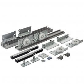 Раздвижная система для шкаф-купе Новатор 880 D с доводчиками для 2х дверей весом до 80 кг и рельса 1,8 м