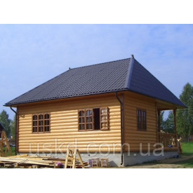 Дачний будинок з верандою 48 м2