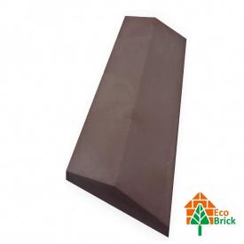 Коник для забору бетонний 180х500 мм коричневий