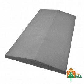 Конек для забора бетонный 440х490 мм серый