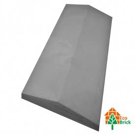 Конек для забора бетонный 680х220 мм серый