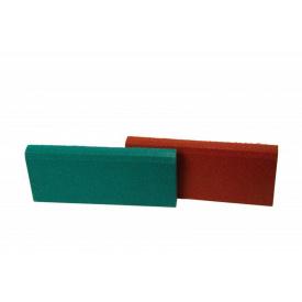 Резиновый бордюр RubCover 500х250х40 мм ярко-красный