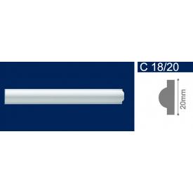Молдинг екструдований Solid С18/20 Білий 20x2000 мм