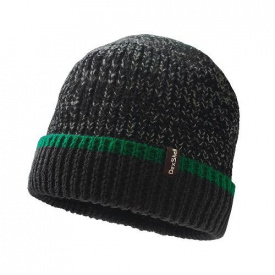 Шапка водонепроницаемая Dexshell Cuffed Beanie черная с зеленой полосой L / XL 58-60 см