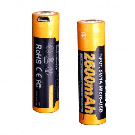 Аккумулятор 18650 Fenix 2600 mAh ARB-L18-2600U micro usb зарядка