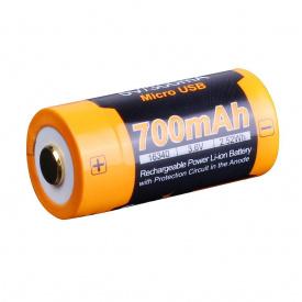 Аккумулятор 16340 Fenix 700 UP mAh Li-ion micro usb зарядка