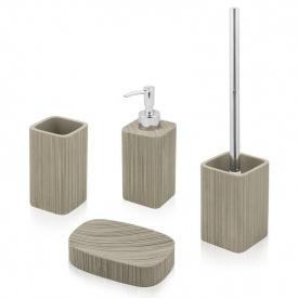 Комплект аксессуаров в ванную комнату Trento Marrone