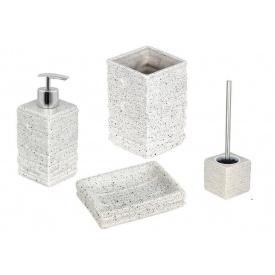 Комплект аксессуаров в ванную комнату Trento Trieste белосерый