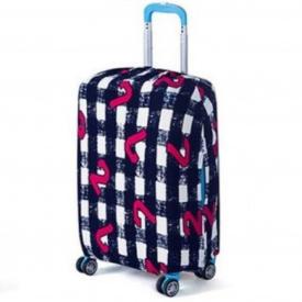 Чохол для валізи Bonro маленький S чорно-білий