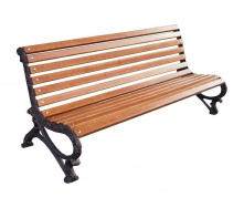Уличная деревянная скамейка ИГ Паркова Б-2 1900х750х880 мм чугунные черные ножки