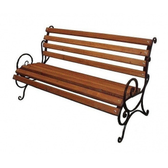 Скамейка садово-парковая ИГ Запад №1 1500х650х870 мм металлические ножки