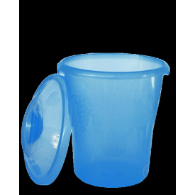 Ведро со съемной крышкой Элегант 12 л голубой