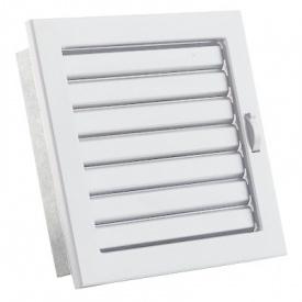 Вентиляционная решетка V с подвижными жалюзи KRVZ 190х170 белая Ventlab